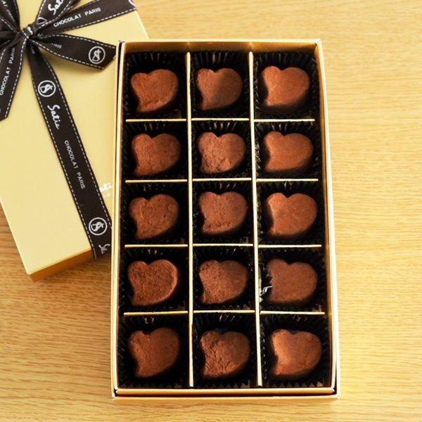 お取り寄せ(楽天) 高級感あふれるショコラ!サティー チョコレート コルセショコラ 15個入り 価格2,808円 (税込)