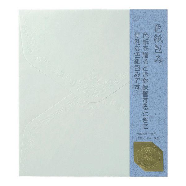 カラー色紙包み 青 34282031 1セット(5枚) デザインフィル (直送品)