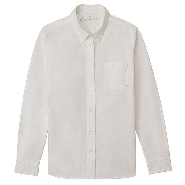 無印良品『オーガニックコットン洗いざらしオックスボタンダウンシャツ』
