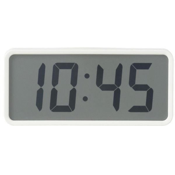 無印良品 デジタル時計・大 ホワイト