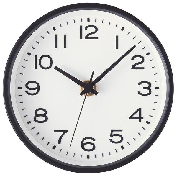 無印良品 アナログ時計・小(スタンド付) 掛置時計・ブラック