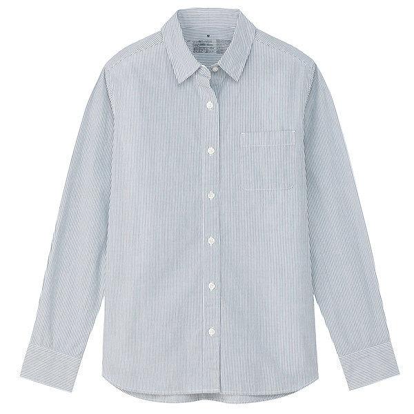 無印洗いざらしスタンドカラーシャツ婦人M