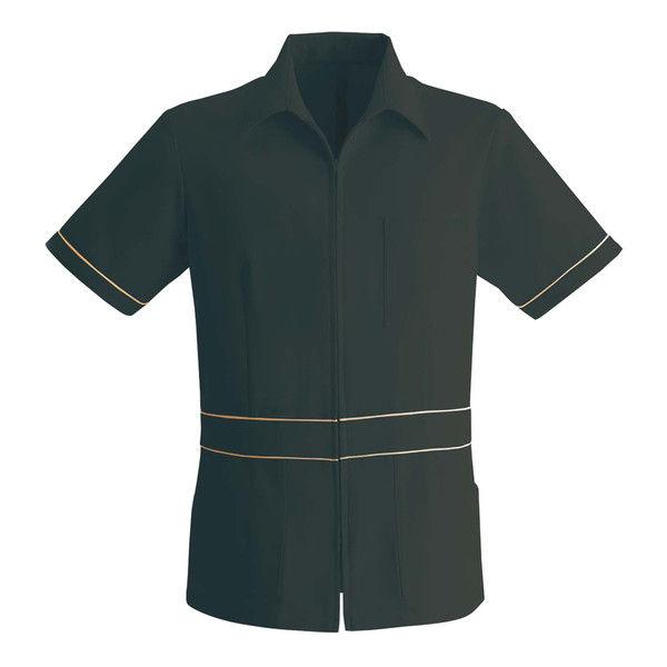 シロタコーポレーション メンズジャケット E-3129-5 ブラック L エステ サロンユニフォーム 1枚(直送品)