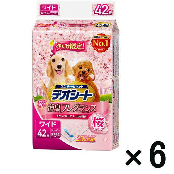 箱売 デオシート消臭 桜の香りワイド×6