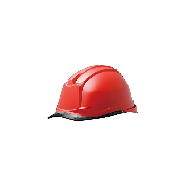 ミドリ安全 ヘルメット キャップ型 クリアバイザー SC-19PCL RA3 α 帽体:レッド/バイザー:スモーク 4001190008 1個(直送品)
