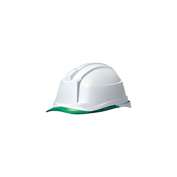 ミドリ安全 ヘルメット キャップ型 クリアバイザー SC-19PCL RA3 α 帽体:ホワイト/バイザー:グリーン 4001190033 1個(直送品)