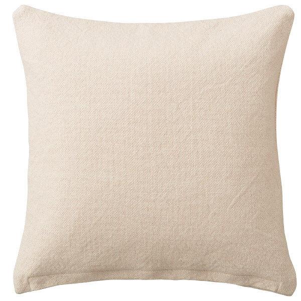 無印良品 インド綿太番手平織クッションカバー/生成