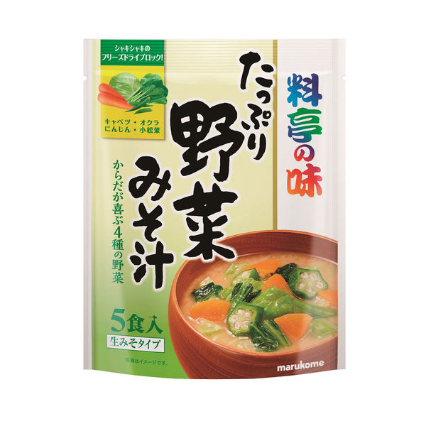 マルコメ料亭の味 たっぷり野菜みそ汁1袋