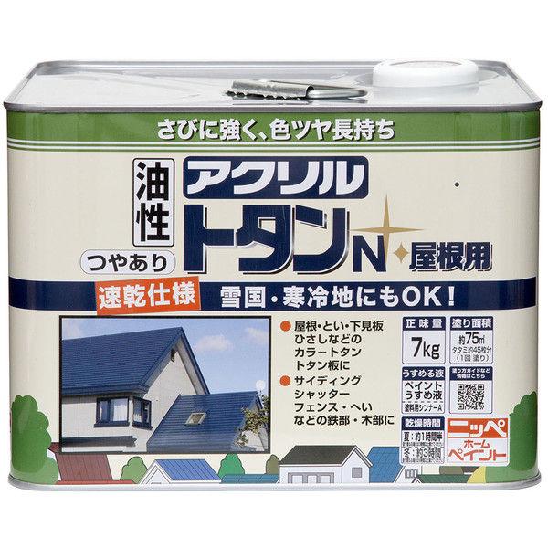 ニッペホームプロダクツ アクリルトタンN屋根用 7kg なす紺 4976124129452 (直送品)