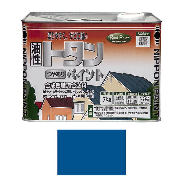 ニッペホームプロダクツ トタンつやありペイント 7kg ライトブルー 4976124184758 (直送品)