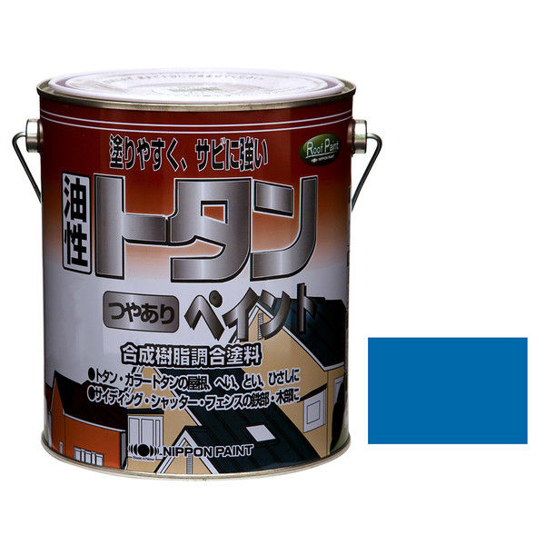 ニッペホームプロダクツ トタンつやありペイント 2kg スカイブルー 4976124184963 (直送品)