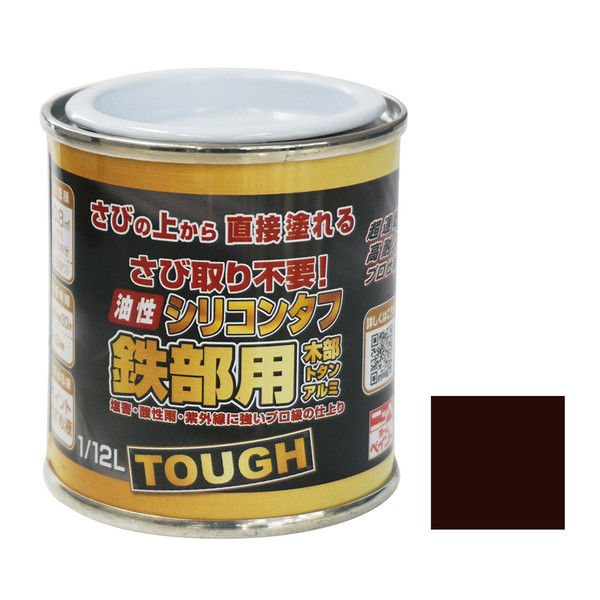 ニッペホームプロダクツ 油性シリコンタフ 1/12L チョコレート 4976124218408 1セット(6個入) (直送品)