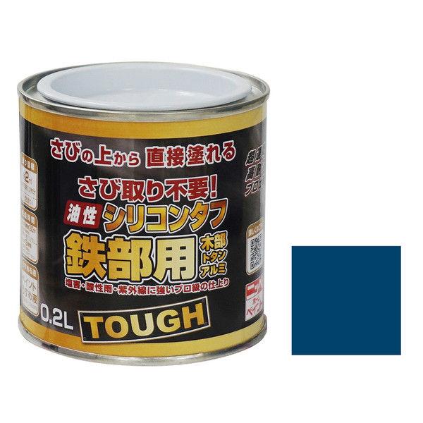 ニッペホームプロダクツ 油性シリコンタフ 0.2L ブルー 4976124218910 1セット(6個入) (直送品)