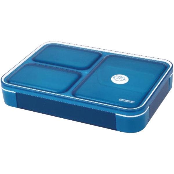 薄型弁当箱フードマン 600ml ブルー