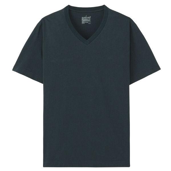無印 Vネック半袖Tシャツ 紳士 L