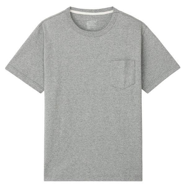 無印 ポケット付き半袖Tシャツ 紳士 L