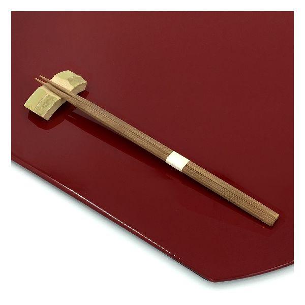 アステップ 最高級箸「持て成し箸」 竹一番 先細帯付燻 23.5cm 25膳/パック 224(直送品)