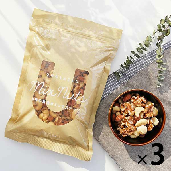 4種の素焼きミックスナッツ400g 3袋