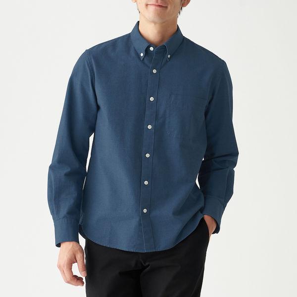 オックスボタンダウンシャツ 紳士 M