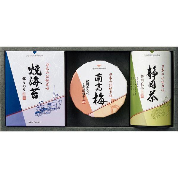 愛国製茶 静岡煎茶・焼海苔・梅干詰合せ IBUL 三越の贈り物(直送品)