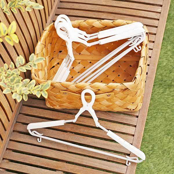 洗濯ハンガー スライドキャッチハンガー 型くずれ防止パット付 5本組 ロハコ(LOHACO)オリジナル