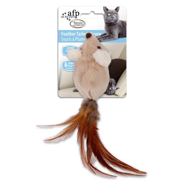 フェザー テイルド マウス猫用 おもちゃ