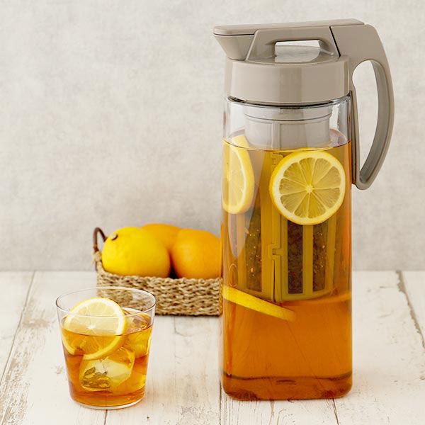 【ロハコ限定】タテヨコ・イージーケアピッチャー 2.1L 茶こし付 冷水筒 1個 岩崎工業