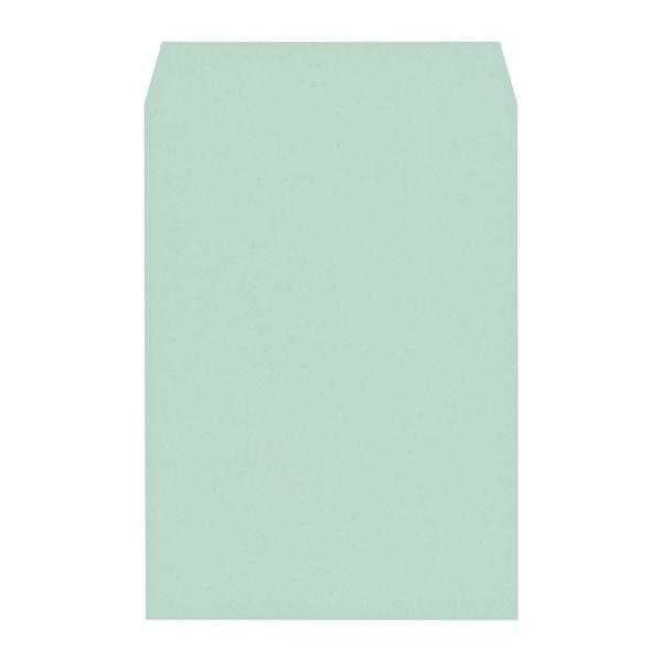 木下水引 エコカラー封筒 角2(A4) ブルー(あさぎ) 500枚(100枚×5袋)(直送品)