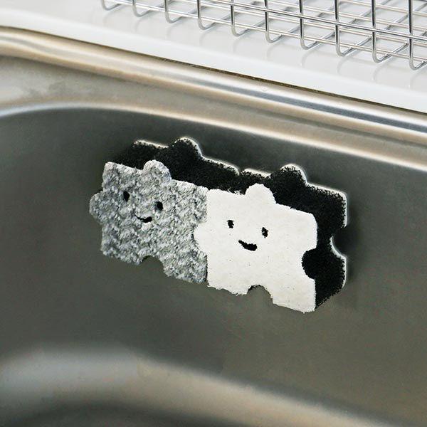 ペタッ!と貼りつくスポンジ 1パック(2個入) パズル柄 ロハコ (LOHACO) オリジナル
