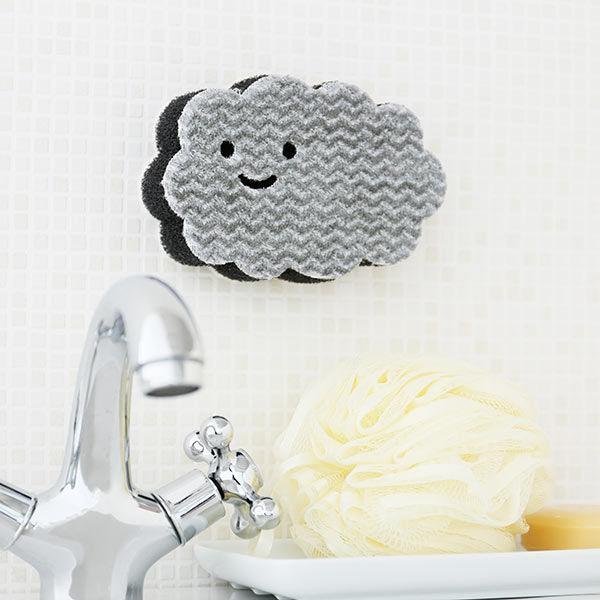 ペタッ!と貼りつくスポンジ お風呂用 バスクリーナー 1個 ロハコ (LOHACO) オリジナル