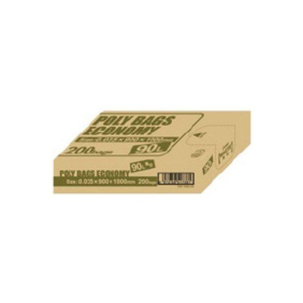 オルディ ポリ袋エコBOX90L乳白半透明 PBE-W90-200(直送品)