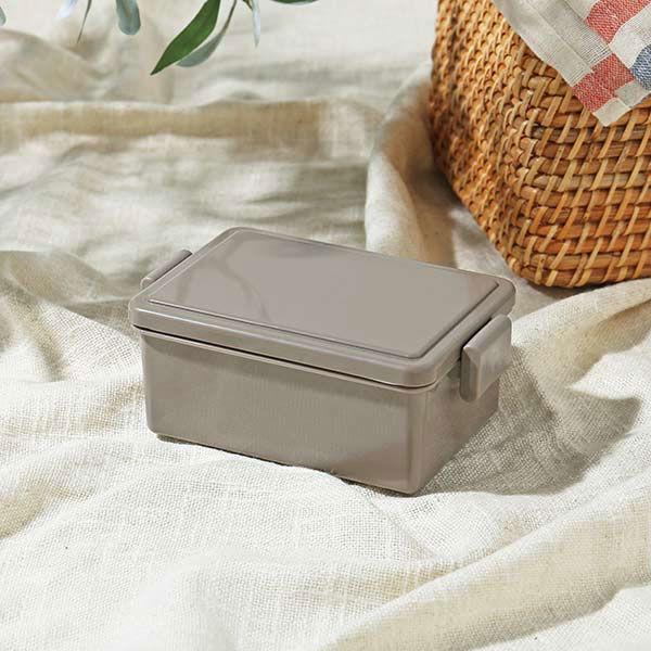 弁当箱 フタが保冷剤になるランチボックス 400ml ブラウン 1段 ロハコ(LOHACO)オリジナル