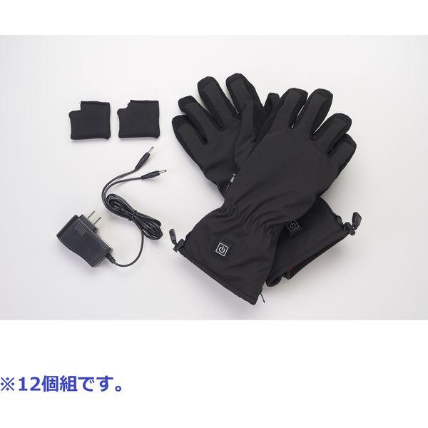 ヤマノクリエイツ ヒーター内蔵手袋 ウォームフィットグローブ*12 1セット12個組(直送品)