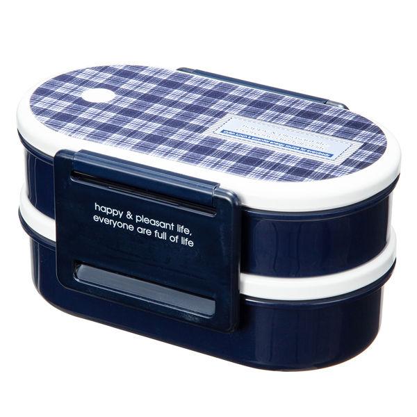2段式 ランチボックス ブルー