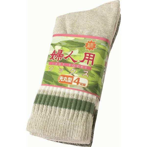 婦人用ソックス先丸 AG270 小野商事 1セット(5組×4足入)(直送品)