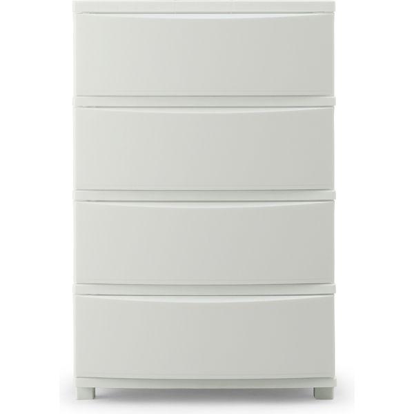 アイリスオーヤマ COLONEチェスト(CLN-544) 4段 ホワイト 幅530×奥行380×高さ810mm 1台(直送品)