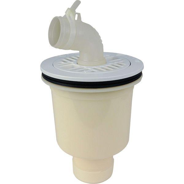 カクダイ これカモ 洗濯機用 排水口接続トラップ (におい防止 防虫効果 呼50VP・VU管兼用 縦排水用) GA-LF044 1個(直送品)