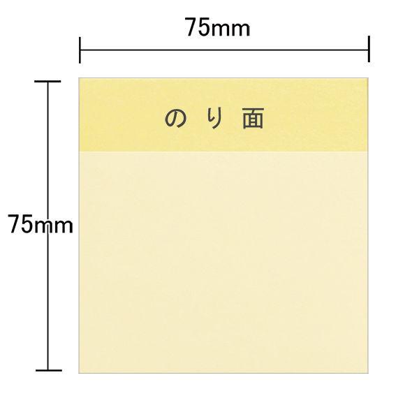 ふせんキューブ 75×75mm 3色