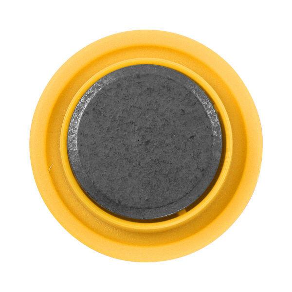 プラス カラーマグネット イエロー 80597 1セット(15個:5個入×3パック)