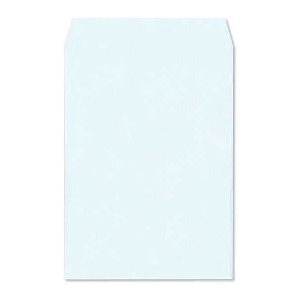 ハート 透けない封筒 カラー テープ付 角2(A4) ブルー XEP471 500枚(100枚×5袋)