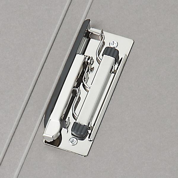 Z式パンチレスファイル A4タテ 背幅15mm アスクル シブイロ グレー