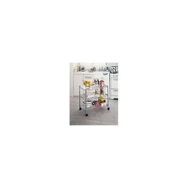 ホームエレクター (セット品) ホームワゴン クローム 幅750×奥行450×高さ700mm HC1830 (直送品)(直送品)