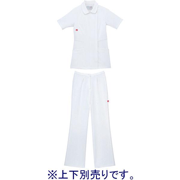 ルコックスポルティフ ナースジャケット レディスジャケット(ラウンドカラー) UQW1012 ホワイト LL