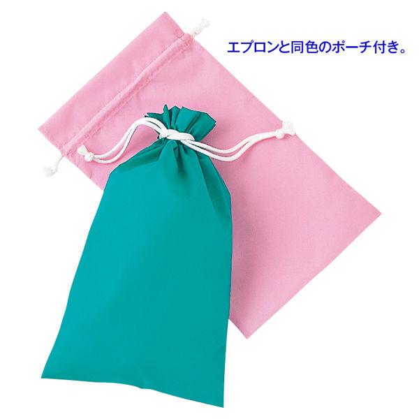 KAZEN 入浴用エプロン(入浴介助用エプロン) グリーン M (ひざ丈 ショート丈)