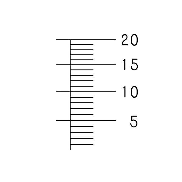 金鵄製作所 計量カップ 20mL 1袋(10個入)