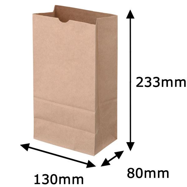 角底紙袋 茶 4号 200枚