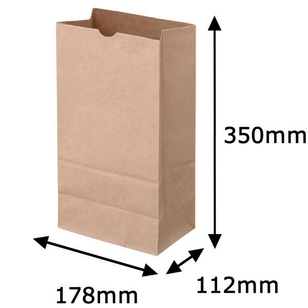角底紙袋 茶 12号 200枚
