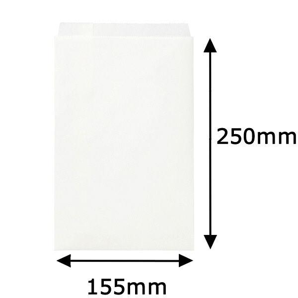 紙平袋 白 中 200枚