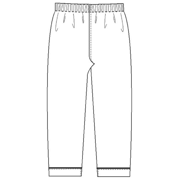 ナガイレーベン 患者衣 ズボン ブルーM SG1443 (取寄品)