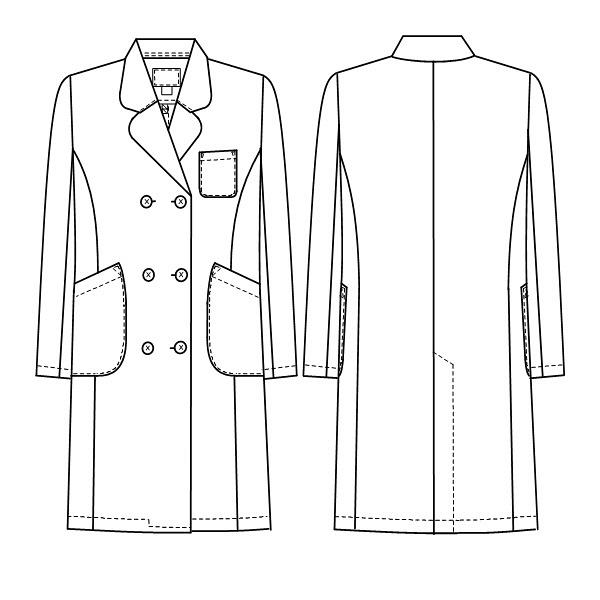 ナガイレーベン 女子ダブル診察衣 ピンクLL EM3025 (取寄品)